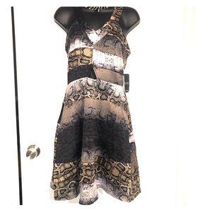 Jessica Simpson multi-pattern dress Size M NWT